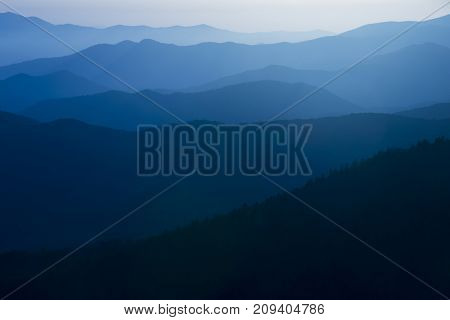 Blue Ridge Mountains colorful graphic