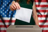 Election In Usa - Voting At The Ballot Box poster