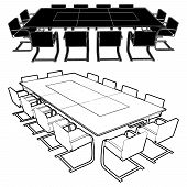 Meeting Conference Table Vect...