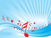 music notes abstract background vector illustration