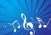 abstract music notes vector illustration