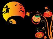 illustration of halloween background series set