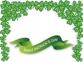 green banner, saint patrick day