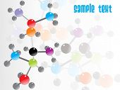 abstract molecule structure background with text