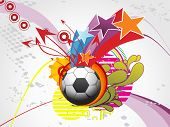 abstract artistic, funky background with football and arrowhead