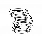 Dirty Dishes Icon. Dirty Dish Sign. Vector Illustration poster