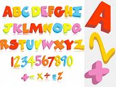 picture of subtraction  - background with kid education - JPG