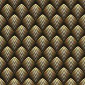 Art Deco Style Seamless Pattern Golden Texture poster