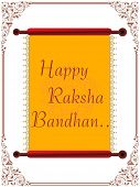 picture of rakshabandhan  - happy rakshabandhan letterpad with creative border background - JPG
