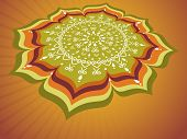 stock photo of pookolam  - rays background with creative artwork for onam - JPG