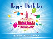 picture of happy birthday  - colorful happy birthday background illustration - JPG