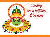 picture of pookolam  - beautiful illustration for happy onam - JPG
