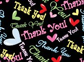 picture of thank you card  - abstract thank you background - JPG