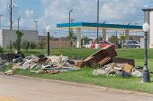 Devastation Of Hurricane Harvey In Pearland, Texas, Usa poster