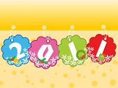 vector illustration of new year wallpaper for 2011
