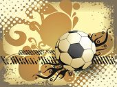 abstract texture background with isolated football, vector illustration