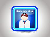 abstract grey background with nurse's day icon, illustration