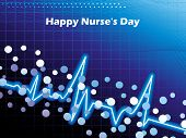 abstract medical concept background for happy nurse's day