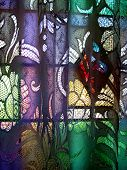 Coloured Glass Curtain