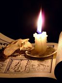 Candle And Skull