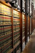 foto of law-books  - shelves of law books inside the law library at the university of michigan law school - JPG