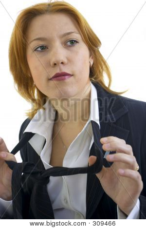 Young Woman With Tie poster