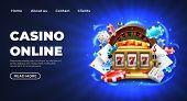 Casino 777 Slot Machine Landing Page Template. Gambling Casino Landing Page. Gambling Roulette Websi poster