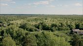 Village In Russia. Village From A Height. The Nature Of The Forests And Village. Abandoned Village I poster