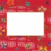 Frame With Flower And Abstract Elements
