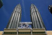stock photo of petronas twin towers  - Petronas Towers - JPG