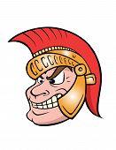 Cartoon Vector Coloring Book Illustration Of A Trojan Warrior poster