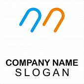 Vintage Old Style Logo Icon Monogram. Letter M Logo. Royal Hotel, Premium Boutique, Fashion Logo, Su poster