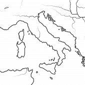 Map Of The Italian Lands: Italy, Tuscany, Lombardy, Sicily, Liguria, Umbria, Campania, Neapolitania, poster