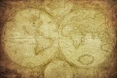 foto of atlas  - vintage map of the world travel background - JPG