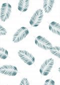 Tropical Leaf Floral Seamless Pattern. Background With Tropical Leaves. Exotic Print For Swimsuits.  poster