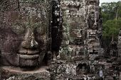 Ancient Faces Angkor Temple