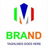 M Letter Logo Vector, M Letter Logo Design Vector Illustration Template, M Letter Logo Vector, Lette poster