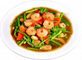 Thai Stir-Fried Shrimp & Asparagus