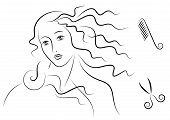 Aphrodite's hair