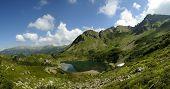 Alpine Lake In The Italian Dolomites