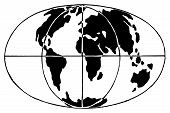 Hand Drawn Globe Symbol. Sketch Of Earth Sign In Doodle Style. Qualitative Vector Graphics For Trave poster