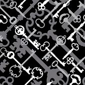 Skeleton Key Pattern_Black