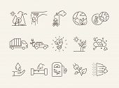 Environment Line Icons poster