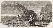 Blast on a sheaf old illustration. Created by Girardet, published on L'Illustration, Journal Universel, Paris, 1863