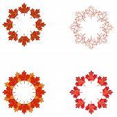 Circular Maple Leaf Element Set