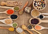 stock photo of soya beans  - various grain - JPG