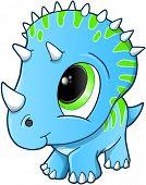 Bebê bonito Triceratops Dinosaur Vector Illustration