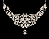 Necklace Women's Wedding With Precious Stones