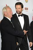 LOS ANGELES - JAN 12: Hulk Hogan, Hugh Jackman at the 2013 G'Day USA Los Angeles Black Tie Gala at J