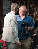 Actor Eric Dane and photographer Peter Lindbergh